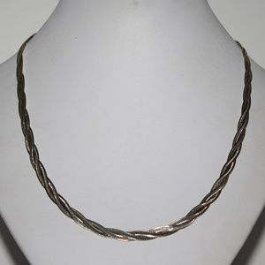 """Jewelry - 18"""" Milor sterling .925 braided necklace"""